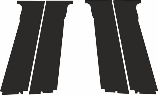 Picture of Vauxhall  Ampera side Door Pillars replacement Textured Matte Black Vinyl