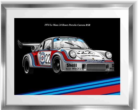 Picture of Porsche Carrera RSR Le Mans Wall Frame Art Print