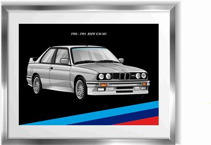 Picture of BMW E30 M3 Wall Frame Art Print