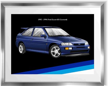 Picture of Ford Escort RS Cosworth Wall Frame Art Print