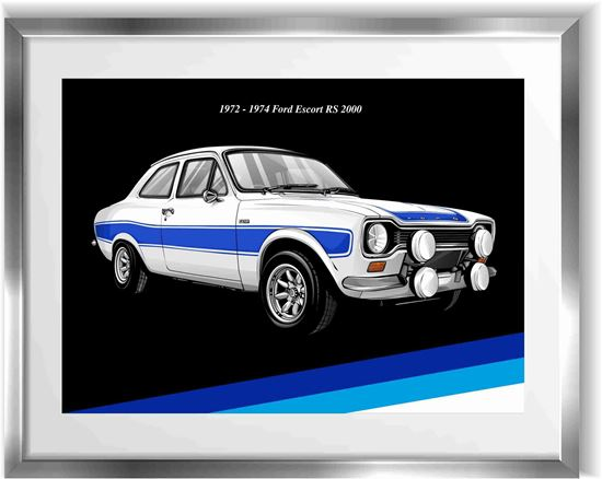 Picture of Ford Escort MK1 RS 2000 Wall Frame Art Print