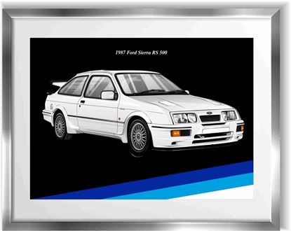 Picture of Ford Sierra RS 500 Wall Frame Art Print