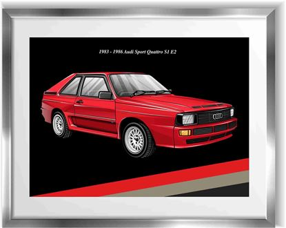 Picture of Audi Sport Quattro S1 Wall Frame Art Print