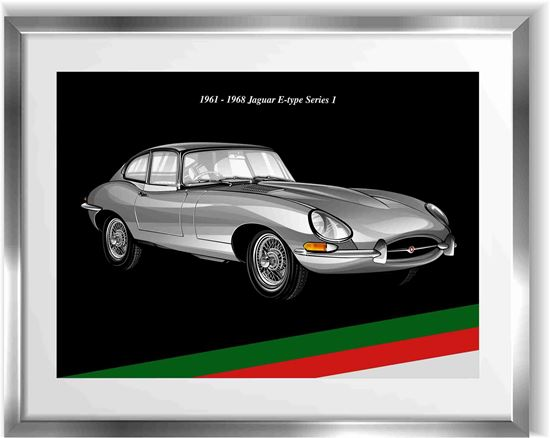 Picture of Jaguar E-type Series 1  Wall Frame Art Print