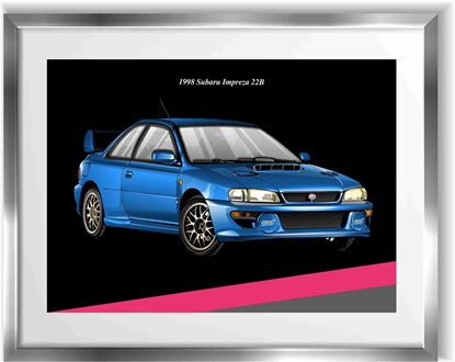 Picture of Subaru Impreza 22B Wall Frame Art Print