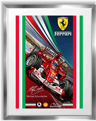 Picture of Ferrari Michael Schumacher F1 Wall Frame Art Print