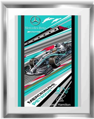 Picture of Mercedes Patronas Lewis Hamilton F1 Wall Frame Art Print