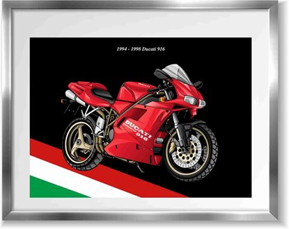 Picture of Ducati 916 Wall Frame Art Print