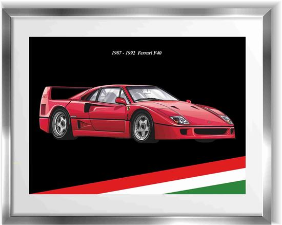 Picture of Ferrari F40 Wall Frame Art Print