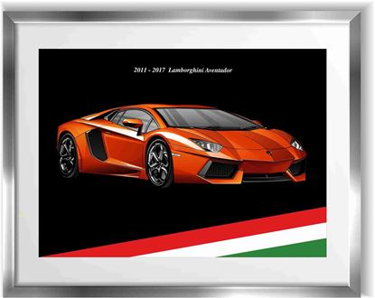 Picture of Lamborghini Aventador Wall Frame Art Print