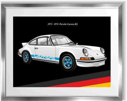 Picture of Porsche 911 Carrera RS Wall Frame Art Print