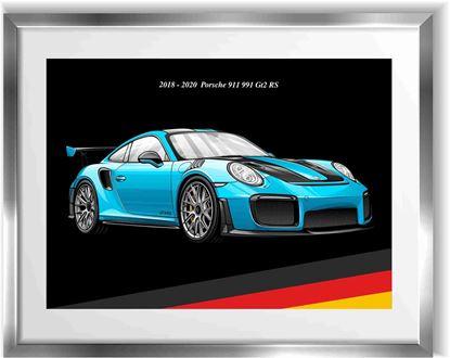 Picture of Porsche 991 GT2 RS Wall Frame Art Print