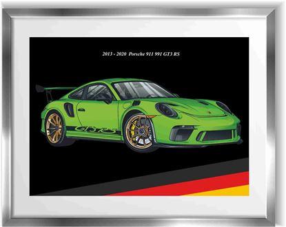 Picture of Porsche 991 GT3 RS Wall Frame Art Print