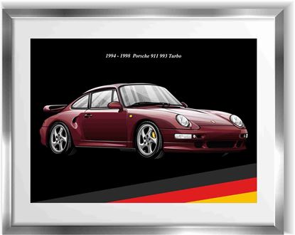 Picture of Porsche 993 Turbo Wall Frame Art Print