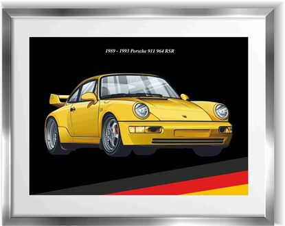 Picture of Porsche 964 RS Wall Frame Art Print