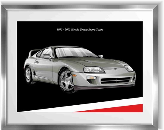 Picture of Toyota Supra Turbo Wall Frame Art Print
