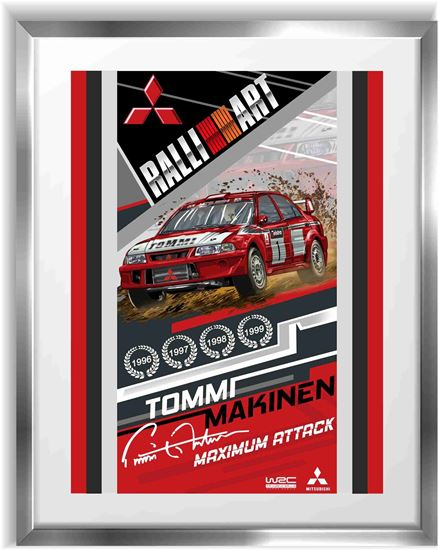 Picture of Mitsubishi Evolution 6 Tommi Makinen WRC Wall Frame Art Print