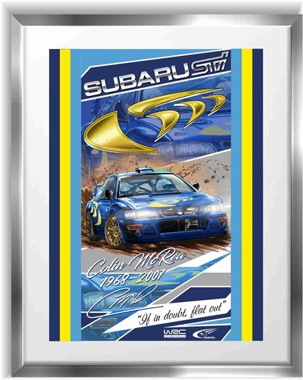 Picture of Subaru RB22 Colin McRea WRC Wall Frame Art Print