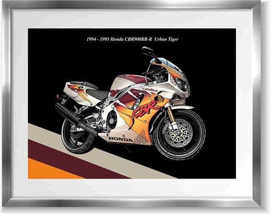 Picture of Honda CBR 900RR-R Urban Tiger Wall Frame Art Print