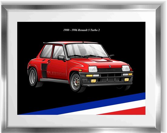 Picture of Renault 5 Turbo 2 Wall Frame Art Print