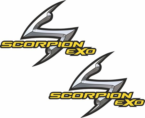 """Picture of """"Scorpion EXO""""  Track and street race sponsor Decals / Stickers"""