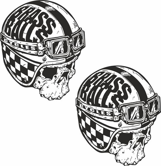 "Picture of ""Brass Balls"" Decals / Stickers"
