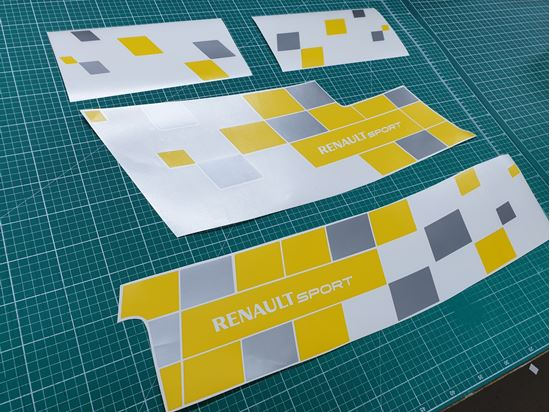 """Picture of Renault Megane MK2 """"Renault Sport"""" Decals / Stickers YELLOW & SILVER"""