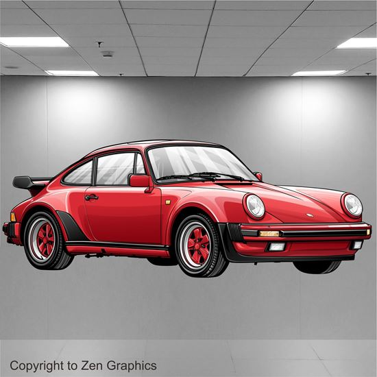 Picture of Porsche 930 Turbo Wall Art sticker (Full colour)
