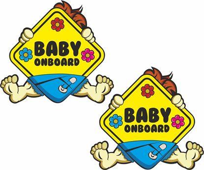 """Picture of """"Baby Onboard"""" Decals / Stickers"""