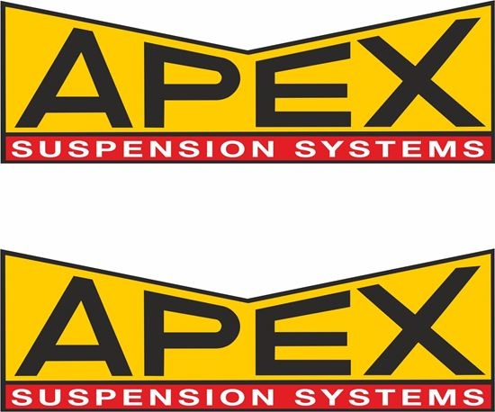 """Picture of """"Apex Suspension Systems"""" Decals / Stickers"""