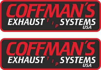 "Picture of ""Coffmans Exhaust Systems"" Decals / Stickers"