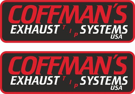 """Picture of """"Coffmans Exhaust Systems"""" Decals / Stickers"""