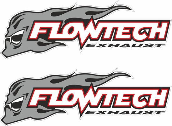 """Picture of """"Flowtech Exhaust"""" Decals / Stickers"""
