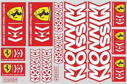 "Picture of ""Ferrari""  Track and street race sponsor Sticker Sheet"