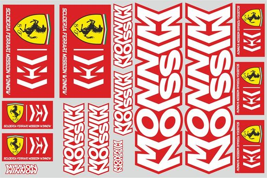 "Picture of ""Ferrari""  Track and street race sponsor Sticker Sheet"