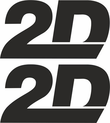 """Picture of """"2D"""" Track and street race sponsor logo"""