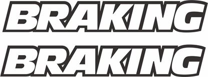 """Picture of """"Braking"""" Track and street race sponsor logo"""