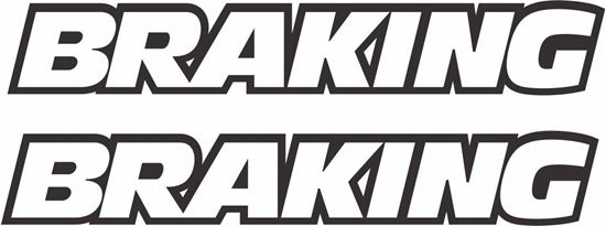 "Picture of ""Braking"" Track and street race sponsor logo"