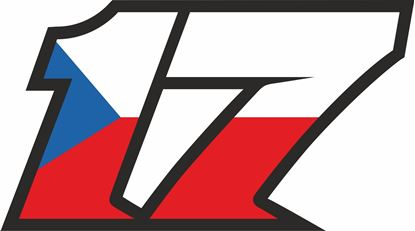 """Picture of """"17"""" Track and street race nose cone number Decal / Sticker"""