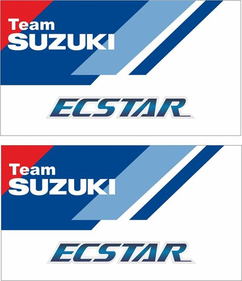 """Picture of """"Suzuki Team Ecstar""""  Track and street race sponsor Decals / Stickers"""