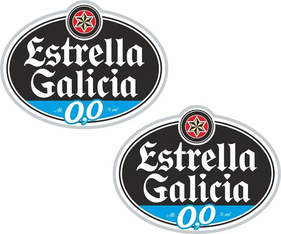 """Picture of """"Estrella Galicia""""  Track and street race sponsor Decals / Stickers"""