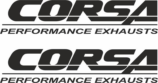 """Picture of """"Corsa Performance Exhausts"""" Decals / Stickers"""