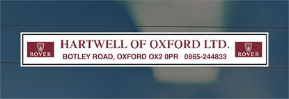 Picture of Hartwell of Oxford Dealer rear glass Sticker