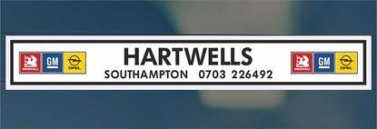 Picture of Hartwells  - Southampton Dealer rear glass Sticker