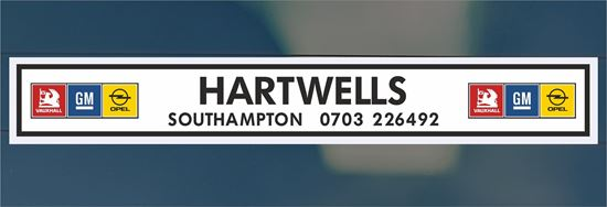 Picture of Hartwells  - Southampton Dealer rear glass Sticker