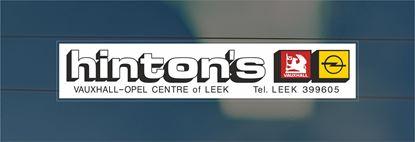 Picture of Hinton's  - Leek Dealer rear glass Sticker