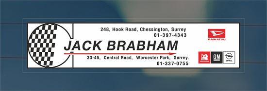 Picture of Jack Brabham - Surrey Dealer rear glass Sticker