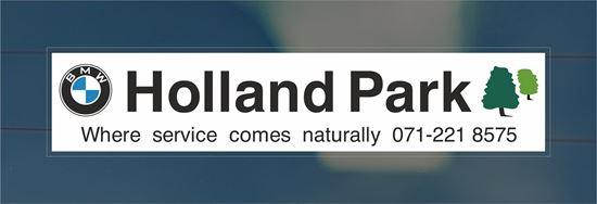 Picture of Holland Park - London Dealer rear glass Sticker