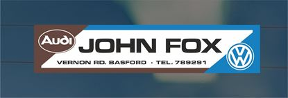 Picture of John Fox - Nottingham Dealer rear glass Sticker