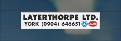 Picture of Layerthorpe ltd - York Dealer rear glass Sticker